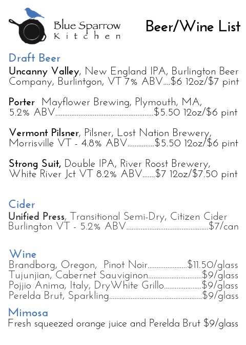 Beer-Menu-2-13-19-blue-sparrow-kitchen